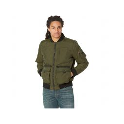 Dry Touch Nylon Quilted Utility Bomber Jacket