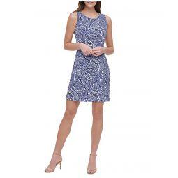 Tommy Hilfiger Atlas Shadow A-Line Jersey Dress