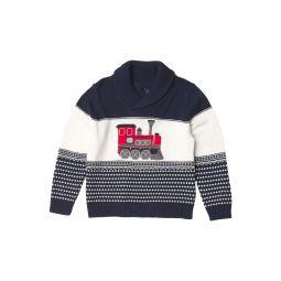 Train Shawl Pullover Sweater (Toddler/Little Kids/Big Kids)