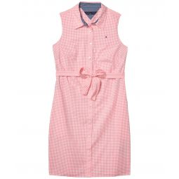 Sleeveless Shirtdress - Gingham