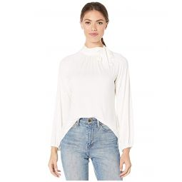 Tie Neck Jersey Top