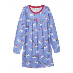 Rainbow Unicorns Long Sleeve Nightdress (Toddler/Little Kids/Big Kids)