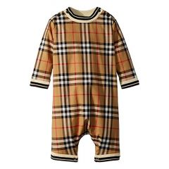 Burberry Kids Michael Long Sleeve Overalls (Infant)