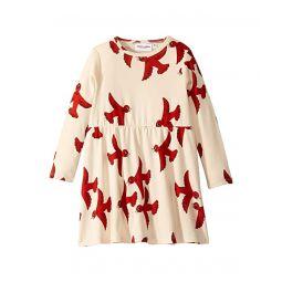 Flying Birds Long Sleeve Dress (Infant/Toddler/Little Kids/Big Kids)