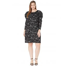 MICHAEL Michael Kors Plus Size Glam Lace Puff Sleeve Dress