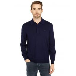 Lacoste Long Sleeve Solid Jersey 1u002F4 Zip Sweater