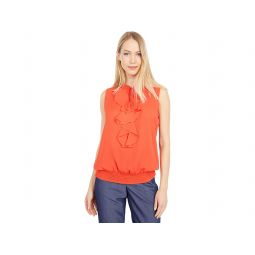 Tommy Hilfiger Sleeveless Ruffle Front Woven Top