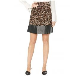 MICHAEL Michael Kors Cheetah Leather Mini Skirt