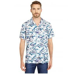 Lacoste Southern France Print Cotton Hawaiian Fit Shirt