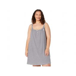 LAUREN Ralph Lauren Plus Size Knit Double Strap Button Neck Gown