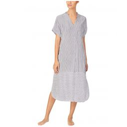 Seersucker Maxi Sleepwear Sleepshirt