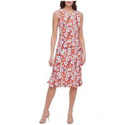 Tommy Hilfiger Flower Show Jersey A-Line Midi Dress
