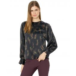 Wisteria Mock Neck Blouse