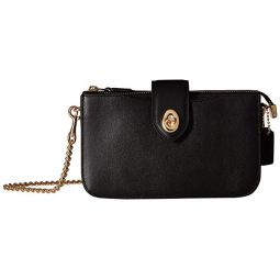 Smooth Leather Turnlock Crossbody