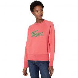 Long Sleeve All Over Croc Brush Fleeced Sweatshirt