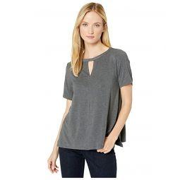 Donna Karan Sleepwear Modal Spandex Jersey Short Sleeve Top