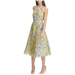 Victoria Floral Chiffon Dress