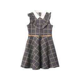 Janie and Jack Windowpane Ponte Dress (Toddleru002FLittle Kidsu002FBig Kids)