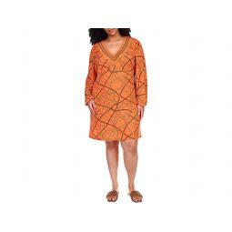 MICHAEL Michael Kors Plus Size Chain V-Neck Border Dress