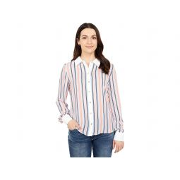Tommy Hilfiger Long Sleeve Collared Stripe Button Front