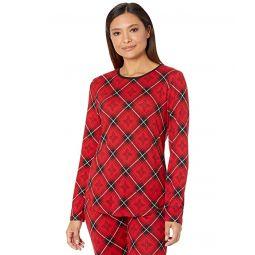 LAUREN Ralph Lauren Brushed Jersey Long Sleeve Joggers Pajama Set