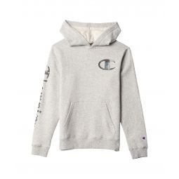 Camo Fill C Script Sleeve Fleece Hoodie (Big Kids)