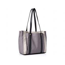 By Fossil Womens Bailey Double Shoulder Handbag Purse, Color: Grey/Black