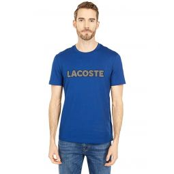 Lacoste Short Sleeve Graphic Lacoste Word on Chest