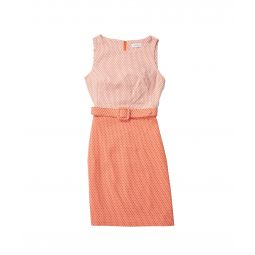 Belted Printed Sheath Dress