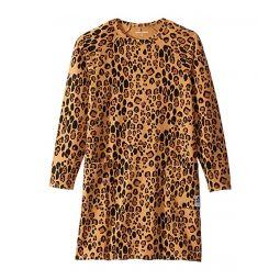 Basic Leopard Long Sleeve Dress (Infant/Toddler/Little Kids/Big Kids)