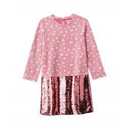 Quilted Hearts Sequin Shift Dress (Toddler/Little Kids/Big Kids)