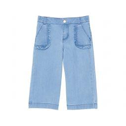 Wide Leg Denim Pants (Toddler/Little Kids/Big Kids)