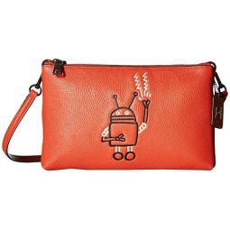 COACH Keith Haring Pebbled Leather Lyla Crossbody