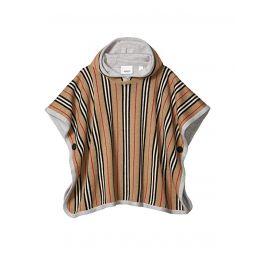 Reversible Icon Stripe Merino Wool Hooded Poncho (Big Kids)
