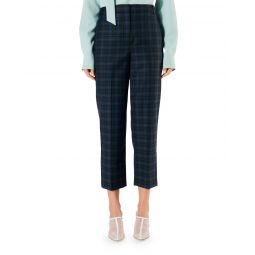 Taylor Marvel Plaid Suiting Mid-Rise Pants