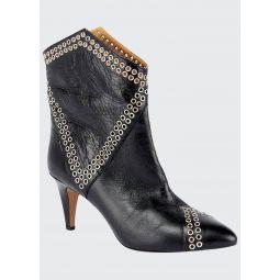 Demka Rugged Leather Western Booties