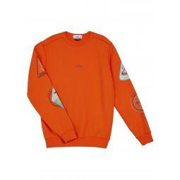 Boys Printed Logo & Space Sweatshirt, Size 8-10