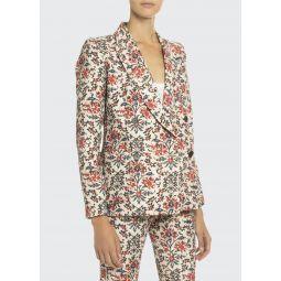 Floral Print Cotton Blazer