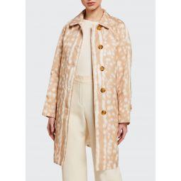 Brunstane Fawn Print Trench Coat