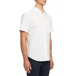 Mens Irving Column Short-Sleeve Sport Shirt