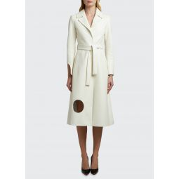 Meteor Cutwork Leather Trench Coat