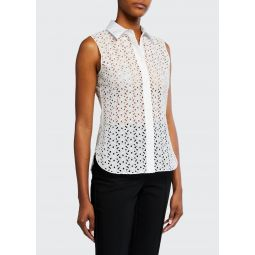 Fitted Daisy Eyelet Shirt