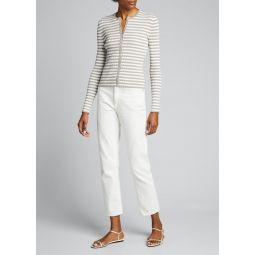 Striped Ribbed Cardigan