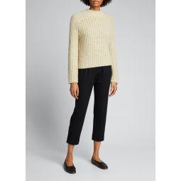 Marled Raglan-Sleeve Pullover