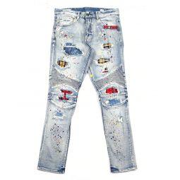 Plaid Ripped Jean