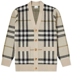 Burberry Wilmore Check Cardigan Soft Fawn