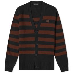 Acne Studios Kimano Stripe Face Cardigan Black & Brown