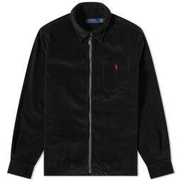 Polo Ralph Lauren Corduroy Zip Shirt Polo Black