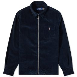 Polo Ralph Lauren Corduroy Zip Shirt Navy Black