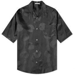 Acne Studios Short Sleeve Sandimper Dot Jacquard Shirt Black